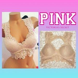 PINK Victoria's Secret Intimates & Sleepwear - VS Pink Push Up Keyhole Back Lace Bra size Med